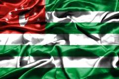 Abkhazia flag waving in the wind. Abkhazia flag waving in the wind stock illustration