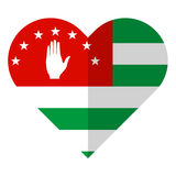 Abkhazia flat heart flag. Vector image of the Abkhazia flat heart flag Stock Photos