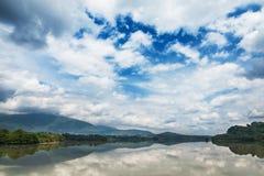 Abkhazia. Gali reservoir near the border of Georgia stock photography