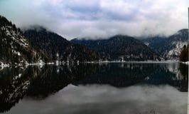 Abkhazia - Lake Riza royalty free stock images