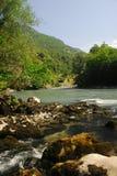 Abkhazia mountain river Bzyb. Abkhazia Bzyb River summer vacation Royalty Free Stock Photo