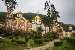Abkhazia. New Afon. This is the famous old monastery in Abkhazia Stock Images