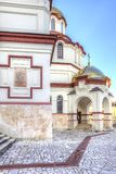 Abkhazia. New Athos Simon the Zealot Monastery. Complex of buildings of the ancient Christian monastery on Mount Athos Royalty Free Stock Images