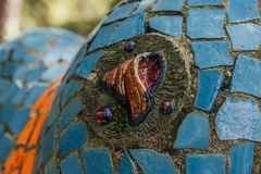 Abkhazia, Old Gagra, May 02, 2017: Tsereteli`s Mosaic Details in park of Oldenburg Royalty Free Stock Image