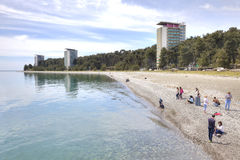 Abkhazia. The resort Pitsunda Stock Photos