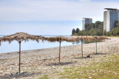 Abkhazia. The resort Pitsunda Stock Photo