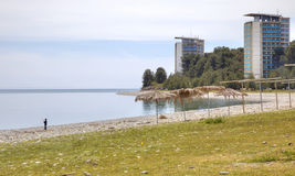 Abkhazia. The resort Pitsunda Stock Images