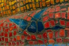 Abkhazia, Stary Gagra, Maj 02, 2017: Tsereteli ` s mozaiki szczegóły w parku Oldenburg Fotografia Stock