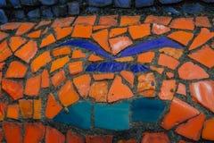 Abkhazia, Stary Gagra, Maj 02, 2017: Tsereteli ` s mozaiki szczegóły w parku Oldenburg Obrazy Royalty Free