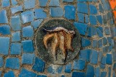 Abkhazia, Stary Gagra, Maj 02, 2017: Tsereteli ` s mozaiki szczegóły w parku Oldenburg Obrazy Stock