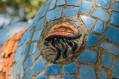 Abkhazia, Stary Gagra, Maj 02, 2017: Tsereteli ` s mozaiki szczegóły w parku Oldenburg Zdjęcia Stock
