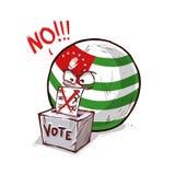 Abkhazia voting no. Countryballs logo royalty free illustration