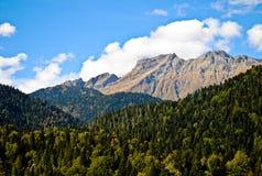 Abkhazian berg Arkivfoto