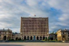 Abkhazian parlament, Sokhumi Royaltyfri Fotografi