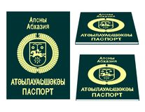 Algerienne passport. An illustration of abkhazian passport royalty free illustration