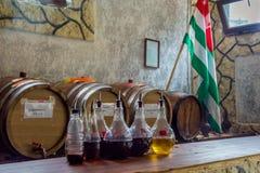 Abkhazian vin som ska smakas Arkivbild