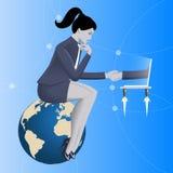 Abkommen über Internet-Geschäftskonzept lizenzfreie abbildung