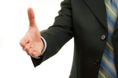 Abkommen, das durch willkommenes Händeschütteln bildet Stockbild