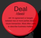 Abkommen-Definitions-Taste stock abbildung