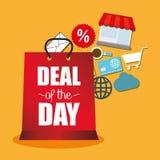 Abkommen der Tagesangebottaschen-Geschenkikonen stock abbildung