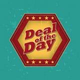 Abkommen des Tages - Retro Kennsatz vektor abbildung