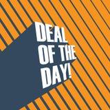 Abkommen des Tagesfördernden Vektorplakats mit Abkommen der Tageslangen Schattentypographie lizenzfreie abbildung