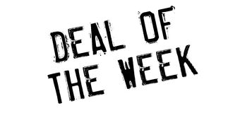 Abkommen des Wochenstempels stock abbildung
