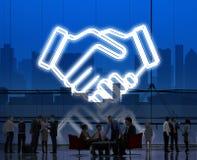 Abkommen-Geschäfts-Arbeits-Zusammenarbeits-Organisations-Konzept stock abbildung