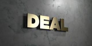 Abkommen - Goldzeichen angebracht an der glatten Marmorwand - 3D übertrug freie Illustration der Abgabe auf Lager vektor abbildung