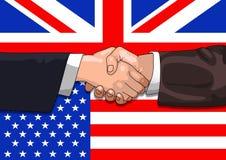 Abkommen Großbritannien-US vektor abbildung
