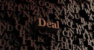 Abkommen - hölzernes 3D übertrug Buchstaben/Mitteilung vektor abbildung