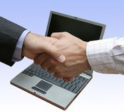 Abkommen im Büro stockfotografie