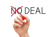 Abkommen oder kein Abkommen-Konzept Lizenzfreie Stockbilder