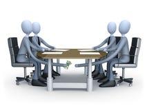 Abkommen unter der Tabelle lizenzfreie abbildung