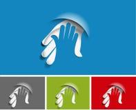 Abkommennetz-Ikonendesign Lizenzfreies Stockfoto