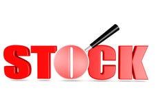 Ablage und Vergrößerungsglas Lizenzfreies Stockfoto