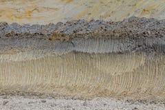 Ablagerung des Kaolins zweitens und des Lehmfeuerfesten materials stockbild