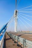 Сable bridge through Samara River, Russia Stock Photography