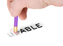 Able. Concept of achievement changing unable to able royalty free stock photography