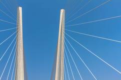 Сable stayed bridge. Stock Photo