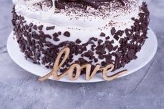ablegrująca tortowa czekolada Obraz Royalty Free