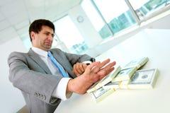 Ablehnung, Bestechungsgeld zu nehmen Lizenzfreie Stockbilder