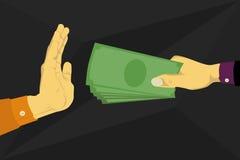 Ablehnung das Geld angeboten Lizenzfreie Stockfotos