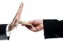 Ablehnung des Geldes Lizenzfreie Stockfotos