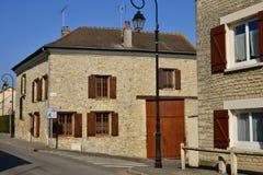 Ableiges, France - august 12 2015 :  village of La Villeneuve Sa Royalty Free Stock Image
