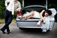 Ableiter der sichernden Braut stockbild