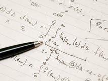 Ableitung einer hoch entwickelten mathematischen Formel Lizenzfreie Stockfotografie