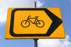 Ablenkung für Radfahrer stockbild