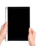 Ablesen des Tablet-PCs Stockbild