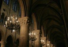 Ablichtung in einer alten Kathedrale stockbilder